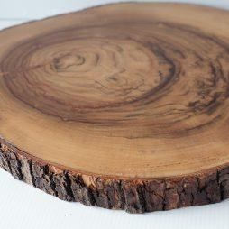large wood slice hire