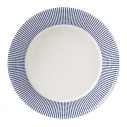 blue and white dinnerware hire