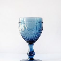 Blue glassware hire