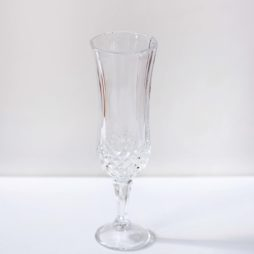 crystal champagne glass hire
