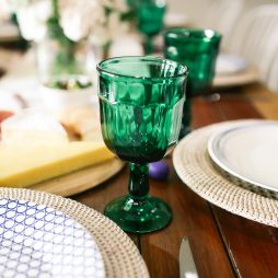 Green glassware hire