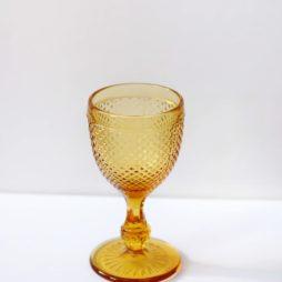 yellow glassware hire