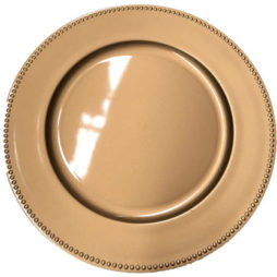 gold charger plate hire