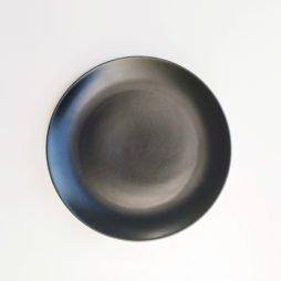 black dinnerware hire