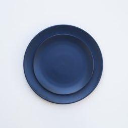 dark blue dinner plate hire