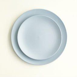 light blue dinner plate hire