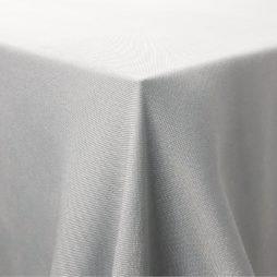 Soft grey tablecloth hire