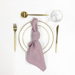 dusty rose pink tableware package
