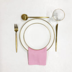 bright pink tableware package