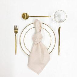 blush pink tableware package