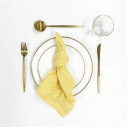 yellow tableware package