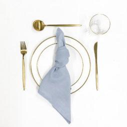 blue tableware package