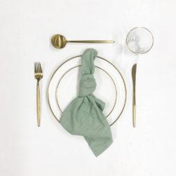 sage green tableware package