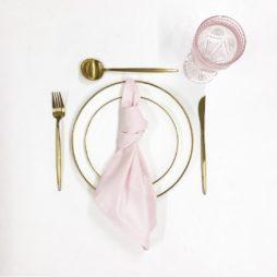 pastel pink tableware