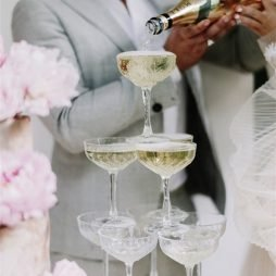 vintage champagne tower hire