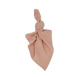 dusty peach waffle cotton napkin hire