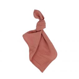 pink clay waffle cotton napkin hire