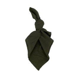 olive waffle cotton napkin hire