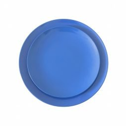azure blue melamine dinnerware hire