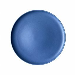 azure blue dinner plate hire