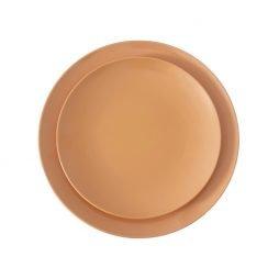 orange melamine dinnerware hire