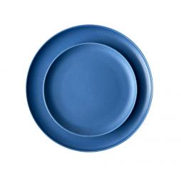 azure blue dinnerware hire