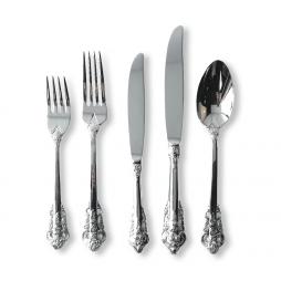 silver vintage cutlery hire